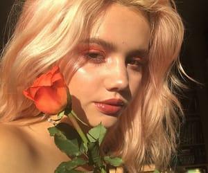 girl, makeup, and rose image
