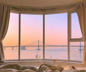aesthetic, sunset, and view image