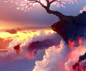 background, multicolour, and cherry blossom image