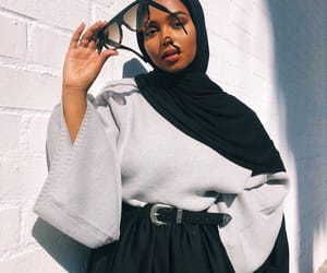 hijab, beautiful, and fashion image