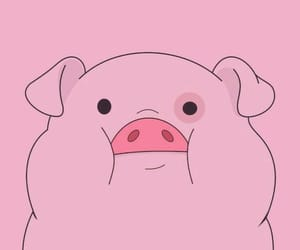 cartoon, pig, and kawaii image