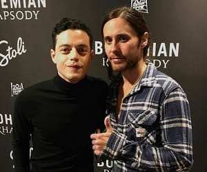 jared leto, thirty seconds to mars, and rami malek image