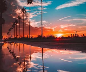 sunset, travel, and sky image