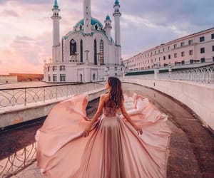 dress, dreamy, and girl image