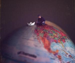 world, boat, and boy image