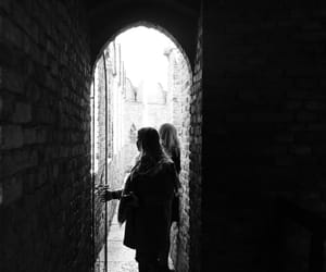 b&w, girl, and italy image