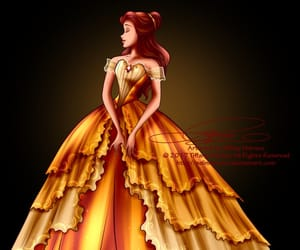 art, princess, and beauty and the beast image