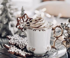 Cookies, drink, and christmas image