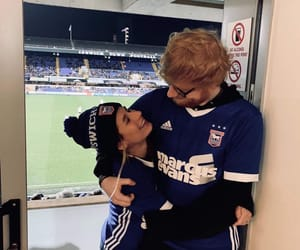 ed sheeran, celebrity, and couple image