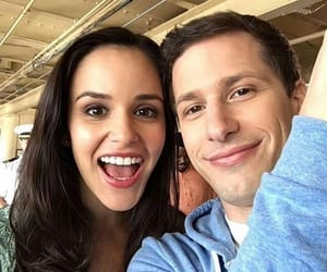 andy samberg, melissa fumero, and brooklyn nine nine image