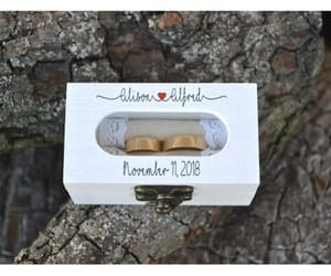 etsy, save the date, and ring pillow image