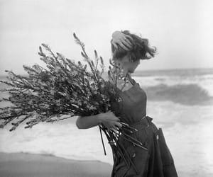 woman and flowers image
