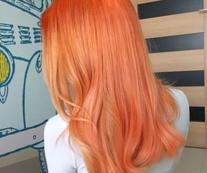hair, orange, and aesthetic image