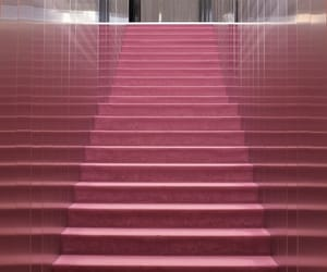 architecture, pink, and stairs image