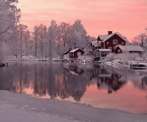 winter, nature, and sweden image