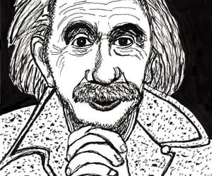 Albert Einstein, ilustracion, and ritratto image