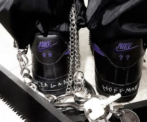 chains, purple, and shoes image
