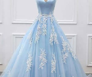 prom dress blue and prom dress ball gown image