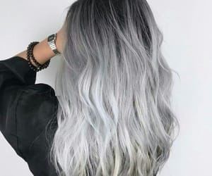 hair, hairstyle, and grey image