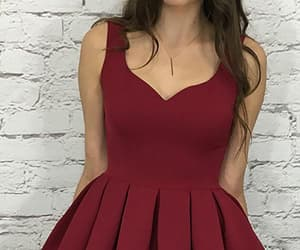 burgundy prom dress and prom dress a-line image