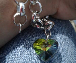 chains, green, and heart image