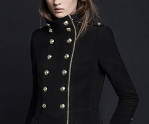 black, winter, and military coat image