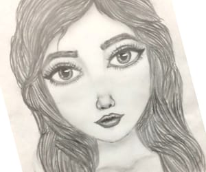 art, girl, and b&w image
