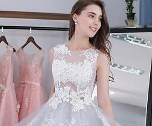 silver prom dress and prom dress lace image