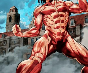anime, attack on titan, and titan image