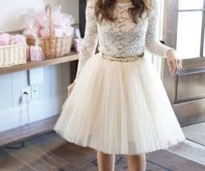 clothes, tulle dress, and girl outfit image