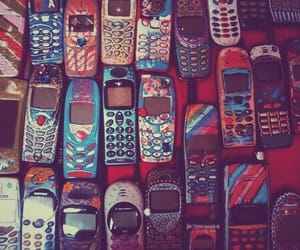 phone, 90s, and grunge image
