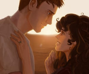 couple, romantic, and ron and hermione image