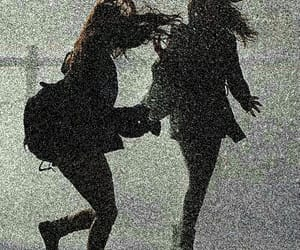 girl, rain, and friends image
