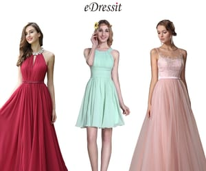evening wear, lace formal gown, and pleated party dress image