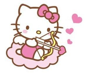 pink, hello kitty, and overlay image
