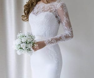 wedding dresses, wedding dress mermaid, and white wedding dress image