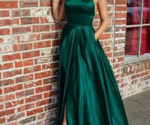 prom dress long and olive green prom dress image