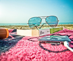 summer, beach, and book image