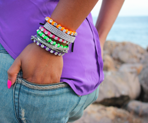 bracelets, green, and neon image