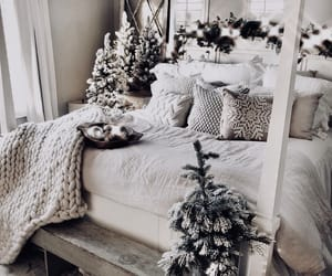 bedroom, cottage, and christmas image