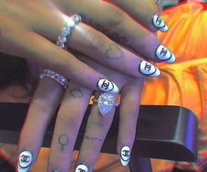 nails, ariana grande, and tattoo image