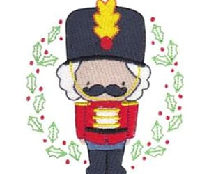 christmas, machine embroidery, and embroidery design image
