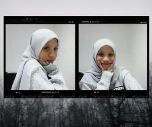 girl, hijab, and unfold image
