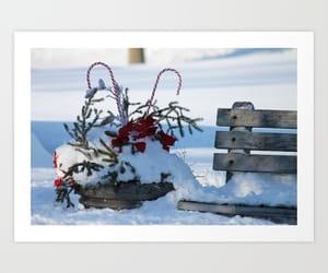 art print, christmas, and poster image