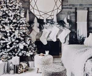 christmas, decorations, and stockings image