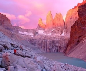 nature, mountains, and pink image
