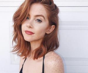 bob, hair style, and red hair image