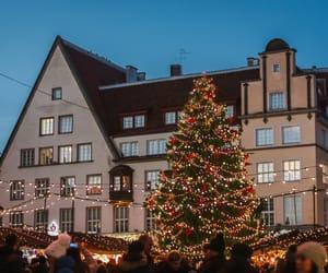 christmas, city, and green image