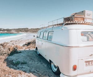 beach, car, and holiday image