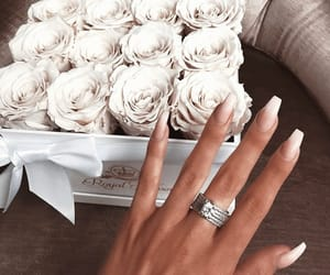 nails, roses, and love image